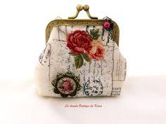 Monedero con boquilla - poesía- de La Tienda Vintage de Kima por DaWanda.com