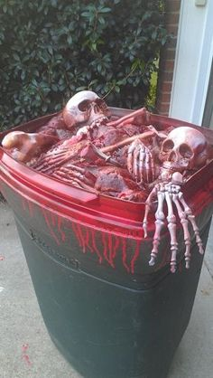 bloody skeleton Halloween props