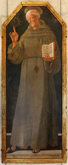 Bartolomeo Della Gatta (1448 - 1502) - Saint Bernardino of Siena
