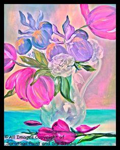 SPRING FLORALS at Saratoga Paint & Sip Studio
