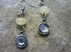 Smoky glass dangle earrings by uniqueeuphoria on Etsy, $5.00