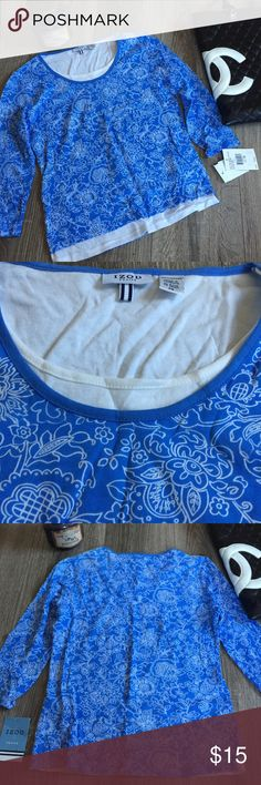 The Great Escape Izod Petite Tee T-Shirt Top New with tags top From Izod. Size PS. Layered look. 3/4 sleeve. AB Izod Tops