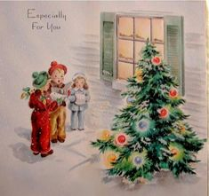 Old Christmas Post Cards — Christmas Carols Christmas Card Images, Beautiful Christmas Cards, Vintage Christmas Images, Old Christmas, Old Fashioned Christmas, Christmas Scenes, Retro Christmas, Christmas Bells, Vintage Holiday