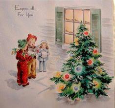 Old Christmas Post Cards — Christmas Carols Christmas Card Images, Beautiful Christmas Cards, Vintage Christmas Images, Old Christmas, Old Fashioned Christmas, Christmas Scenes, Retro Christmas, Christmas Bells, Vintage Holiday