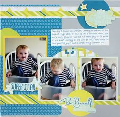Family and Friends Scrapbook Project Ideas: Superstar Be Young Scrapbook Layout Page Idea