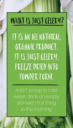 It reduces inflammation and stomach bloating. Mix with water for morning hydration. Celery Juice Benefits, It Works Marketing, It Works Global, It Works Products, Interactive Posts, Acai Berry, Freeze Drying, Reduce Inflammation