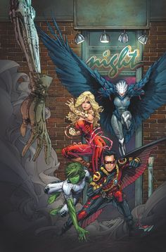 TEEN TITANS #3 … OCTOBER 2014 Written by WIL PFEIFER Art and cover by KENNETH ROCAFORT A free night out for Raven leads the Titans into another battle! And that brings them one step closer to a dark secret at the heart of S.T.A.R. Labs.