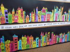A la manière du peintre architecte Hundertwasser ...
