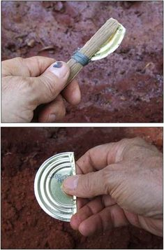 Survival Tools: Uses for a Tin Can. Tutorials on how to make cutting tool. - Survival Tools: Uses for a Tin Can. Tutorials on how to make cutting tool. Survival Gear and Preppi - Survival Life Hacks, Survival Food, Camping Survival, Outdoor Survival, Survival Prepping, Survival Skills, Survival Quotes, Survival Stuff, Outdoor Camping