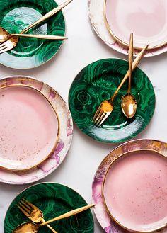 Color Palette: rosa cipria e verde