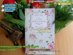 Undangan Vintage Rose Prancis WA/ SMS Center: 0857.2963.7569 Telp/SMS/WA…