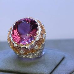 Buccellati Beautiful gemstone and diamond ring.