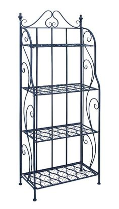 Benzara Bakers Rack with Classic Design, 28 by 28 by 28-Inch, Black