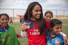 Arsenal Ladies captain Alex Scott travelled to Iraq to visit a football project funded by The Arsenal Foundation, in partnership with Save the Children.