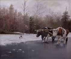 Bois na neve por Maneco Araújo