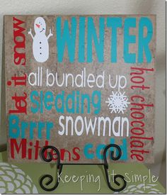 Use a tile (anything from to cut some vinyl w/my Cricut and Viola! A nice little décor piece. I could make one for any/all seasons/ holidays. Maybe make one w/a monogram or family name Tile Crafts, Vinyl Crafts, Crafts To Do, Wood Crafts, Tile Projects, Vinyl Projects, Christmas Signs, Christmas Projects, Christmas Decor
