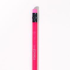 You can use this Feminist Pencil to write feminist papers, or just to write your to do list because you are a modern woman and you can do what you want.Two dollars for a pencil! You exclaim. Well, here's what special about this one, for every pencil sold $1 will be donated to Planned Parenthood. So you will get a functional office supply and you will help women get access to healthcare.It's neon pink and for the most part it works like any regular pencil. However, th...