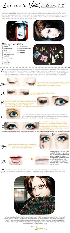 a good tutorial for visual kei style make up. use it to your advantage.