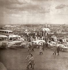 Prague in 60s by Karel Plicka