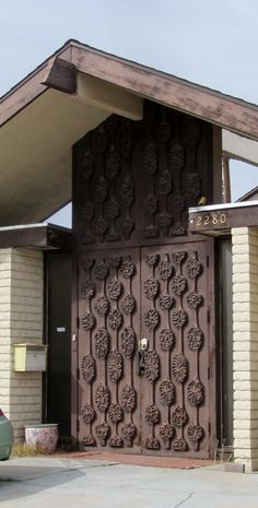 carved midcentury doors - Google Search