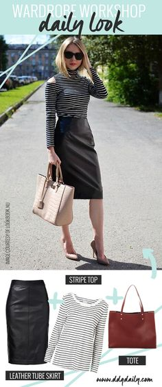 A leather skirt to rock during the day