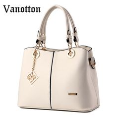 00a8d3fd0db 2017 Famous Brand Women s Handbag Pu Leather High Quality Handbag Fashion  Pure Color Female Shoulder Bag