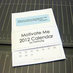 Free Printable 2012 Calendar with Motivational Quotes.