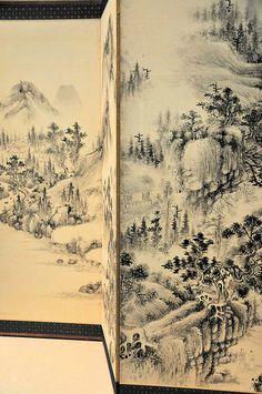 Detail: Japanese Screen at Smithsonian Freer Art Gallery