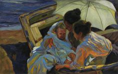 After the Bath  Joaquin Sorolla y Bastida high by paintingmania