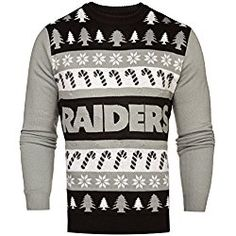 nfl oakland raiders one too many light up sweater large cincinnati bengals pittsburgh steelers