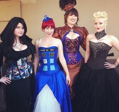 Star Wars, Dr. Who, and steam punk all by the lady in the black corset