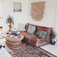 Boho living space - love the leather couch - Bohobuys (@bohobuys) • Instagram photos and videos