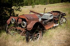 Old Reo abandoned car. Granite, Oregon.