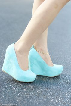 Ice blue wedges - oh my god give me these