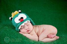 Baby Monster Hat .. Newborn monster .. newborn photo by bitOwhimsy, $34.00