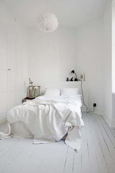35 all-white room ideas. Discover photos of living rooms, bedrooms, kitchens, and bathrooms decorated in all white decor. Find monochrome white rooms that will inspire your own decor.