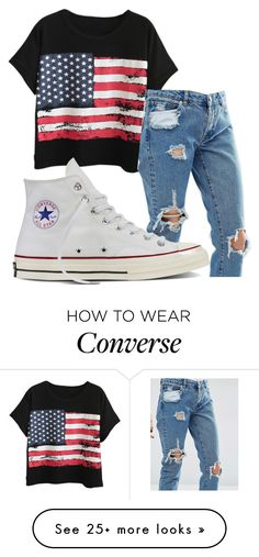 """Untitled #974"" by crinahs on Polyvore featuring Chicnova Fashion, ASOS and Converse"