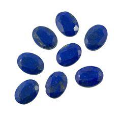BLUE 3  pcs14x10mm Natural  lapis lazul FLATBACK CABOCHONS