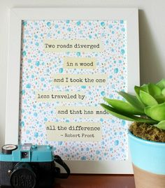 Robert Frost - Two Roads - Free Printable from At Home on the Bay