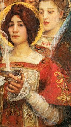 """Edgar Maxence, """"Soul of the Forest"""", 1898, detail"""