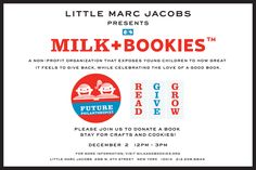 Join us at Little Marc Jacobs for Milk and Bookies! Sunday, December 2.