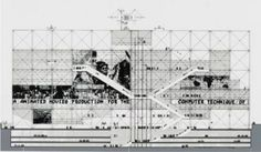 Competition Drawing, The Pompidou Center, Renzo Piano and Richard Rogers