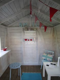 playhouse  -a small fun space - make    one for your children in a bedroom,  garden shed, under the stairs, small is good...just make it their own!