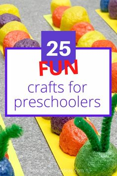 Check out 25 popular craft projects to do with kids. Use this visual library to find lots of fun activities to make with your preschoolers at home. Preschool Activities At Home, Spring Activities, Color Activities, Easy Craft Projects, Arts And Crafts Projects, Easy Crafts, Craft Ideas, Fun Arts And Crafts, Fun Crafts For Kids