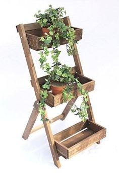 Blumentreppe Fiora Aus Holz 90cm Blumenständer Pflanzentreppe Blumenregal  Regal