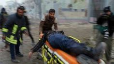 Aleppo battle: Shellfire kills civilians in rebel-held east - BBC News