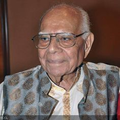 Indian lawyer and politician, Ram Jethmalani gets clicked during his 90th birthday celebration, held at Hotel Ramada in Mumbai
