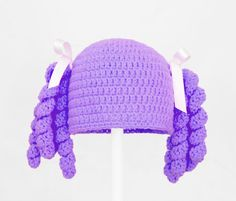 Hey, I found this really awesome Etsy listing at https://www.etsy.com/listing/179263811/loopsy-pigtails-beanie-hat-wig-in-all