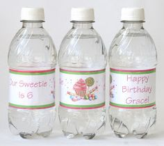 Glorious Treats: {How-to} Make Custom Water Bottle Labels