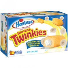Hostess Banana Twinkies (10 Cakes) 13.58 OZ (385g)